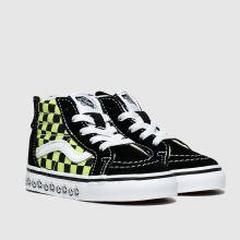 vans black & green sk8 hi zip x bmx trainers toddler