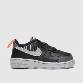 Nike Black & Grey Air Force 1 Lv8 2 Boys Toddler