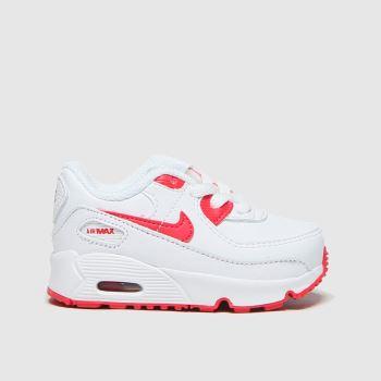 Nike White & Red Air Max 90 Boys Toddler