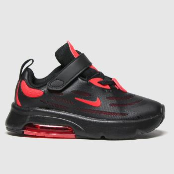 Nike Black & Red Air Max Exosense Boys Toddler