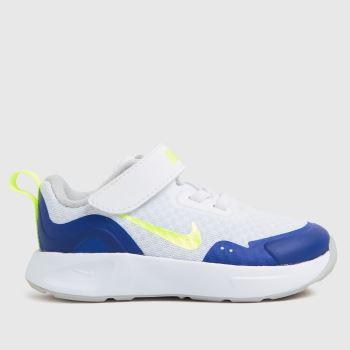 Nike White & Blue Wearallday Boys Toddler