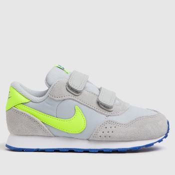 Nike Grey & Lime Md Valiant Boys Toddler
