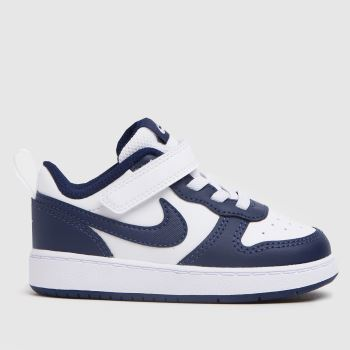 Nike White & Navy Court Borough Low 2 Boys Toddler