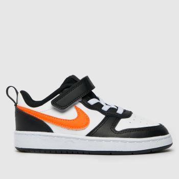 Nike White & Orange Court Borough Low 2 Boys Toddler