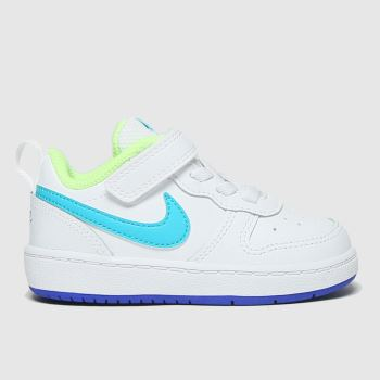Nike White & Blue Court Borough Low 2 Boys Toddler