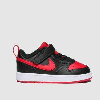 Nike Black & Red Court Borough Low 2 Boys Toddler