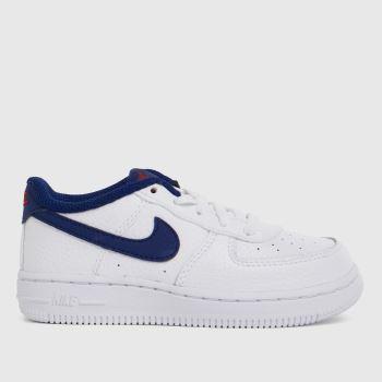 Nike White & Navy Air Force 1 Boys Toddler