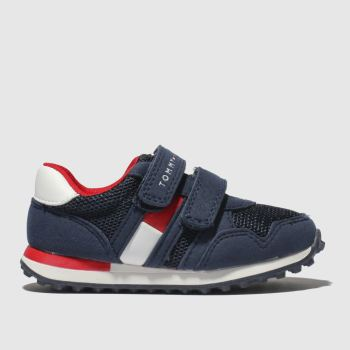 Tommy Hilfiger Navy & Red Flag Velcro Sneaker Boys Toddler