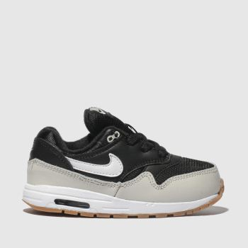 c17189fa1fcd Nike Black   White Air Max 1 Boys Toddler