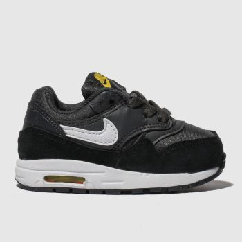 Nike Grey & Black Air Max 1 Boys Toddler