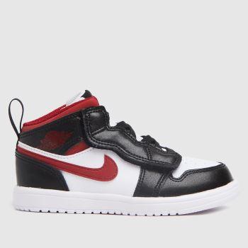 Nike Jordan White & Red Nike Air Jordan 1 Mid Boys Toddler