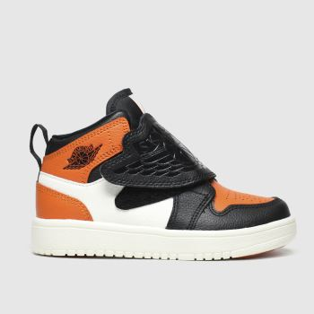 nike jordan black & orange nike sky jordan 1 trainers toddler
