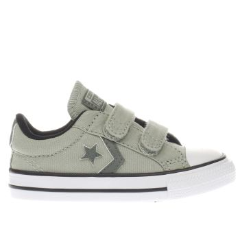 Converse Light Green & Khaki Star Player 2V Boys Toddler