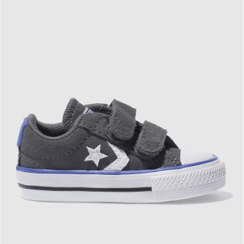 542f2695b5e7e2 CONVERSE DARK GREY STAR PLAYER 2V TRAINERS TODDLER