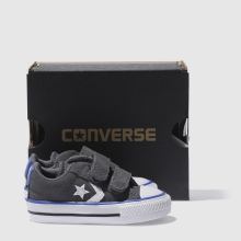 25ef09daeec3b6 converse dark grey star player 2v trainers toddler