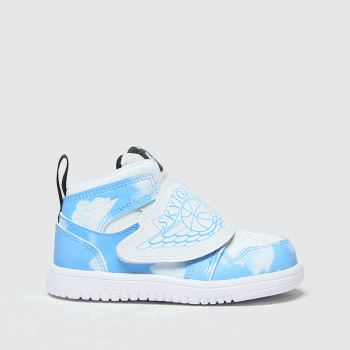 Nike Jordan White & Pl Blue Sky Jordan 1 Fearless Boys Toddler#