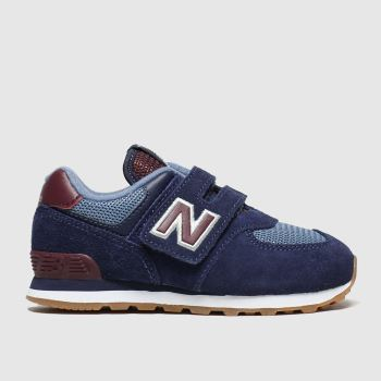 New Balance Navy 574 c2namevalue::Boys Toddler