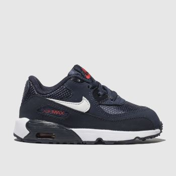 bcca23183de Nike Navy Air Max 90 Mesh Boys Toddler