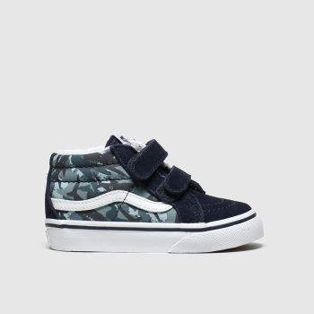 Vans Navy & Green Sk8-mid Reissue V Boys Toddler