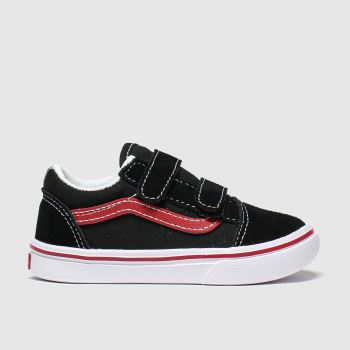Vans Black & Red Comfycush Old Skool V Boys Toddler