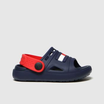 tommy hilfiger navy & red comfy sandal sandals toddler