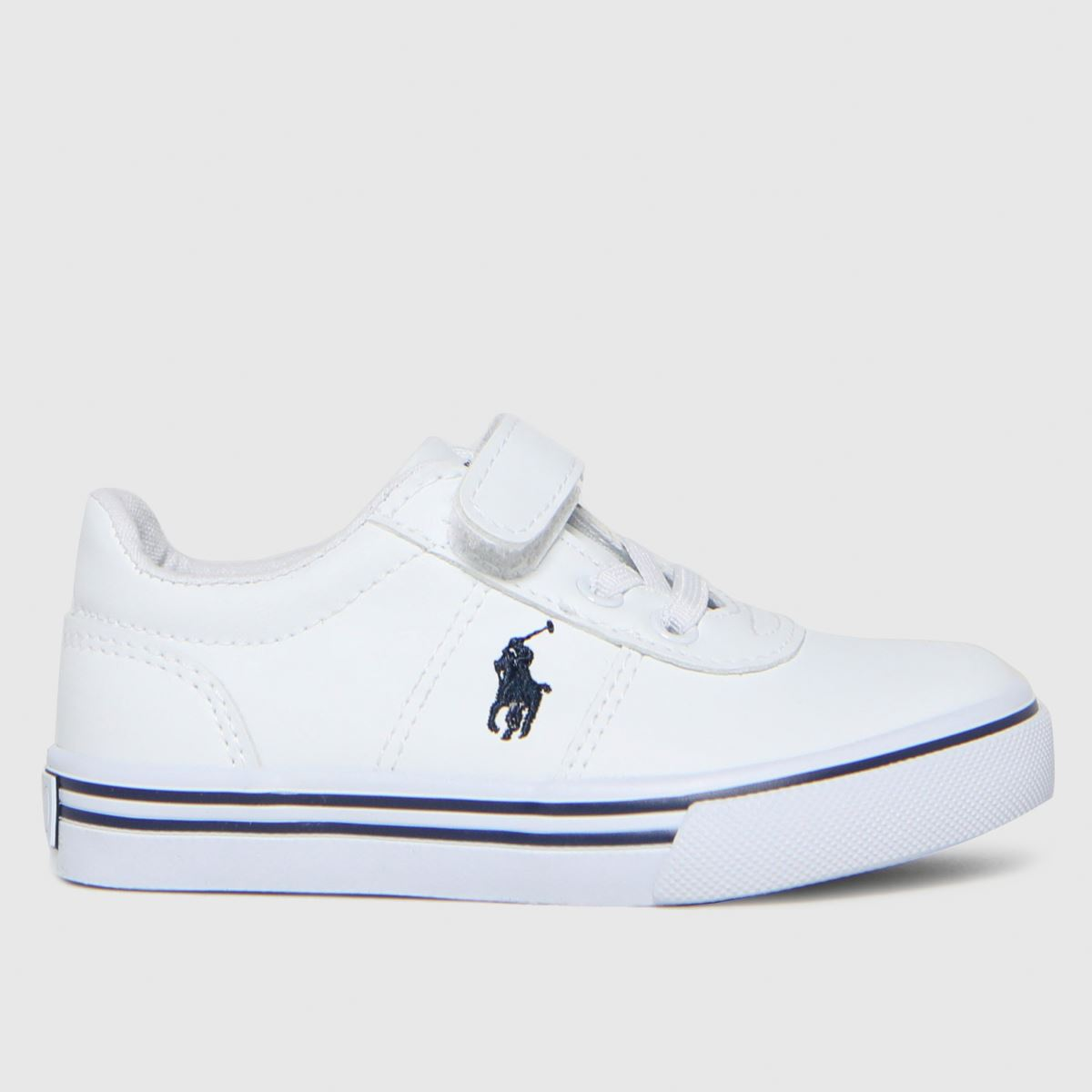 Polo Ralph Lauren White & Navy Hanford Ii Ps Trainers Toddler