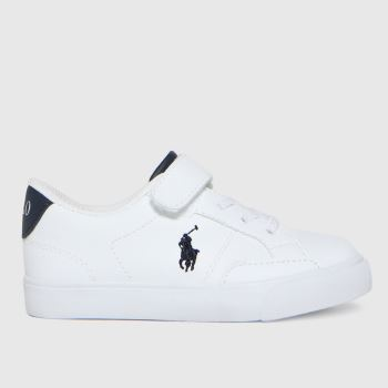 Polo Ralph Lauren White & Navy Theron Iv Ps Boys Toddler