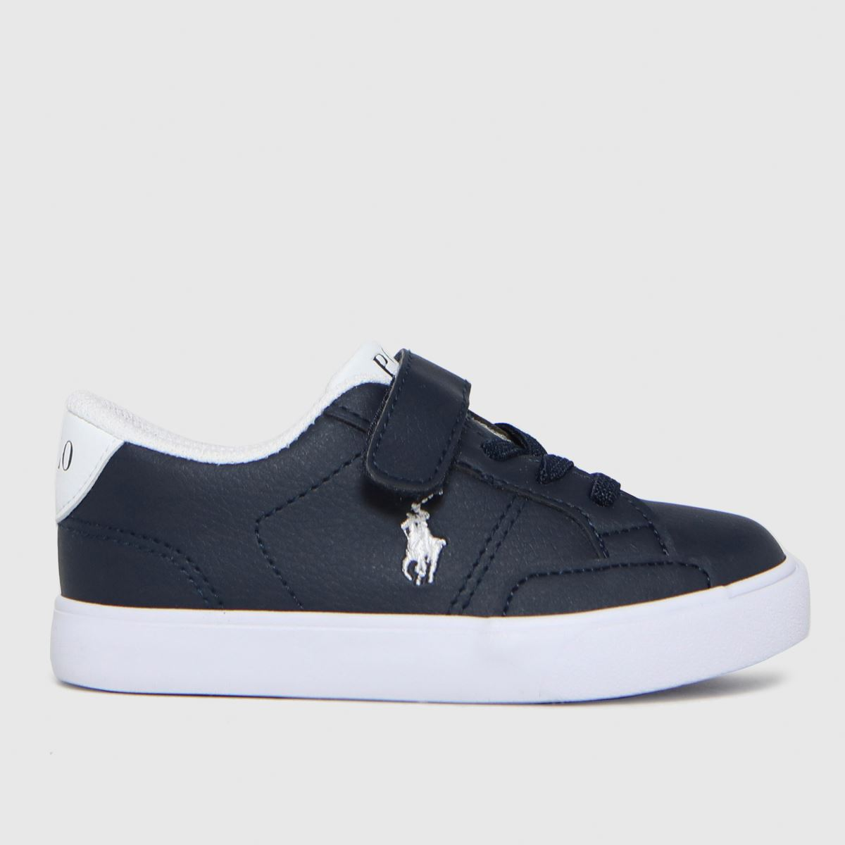 Polo Ralph Lauren Navy & White Theron Iv Ps Trainers Toddler