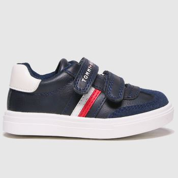 Tommy Hilfiger Navy & White Low Cut Velcro Sneaker Boys Toddler