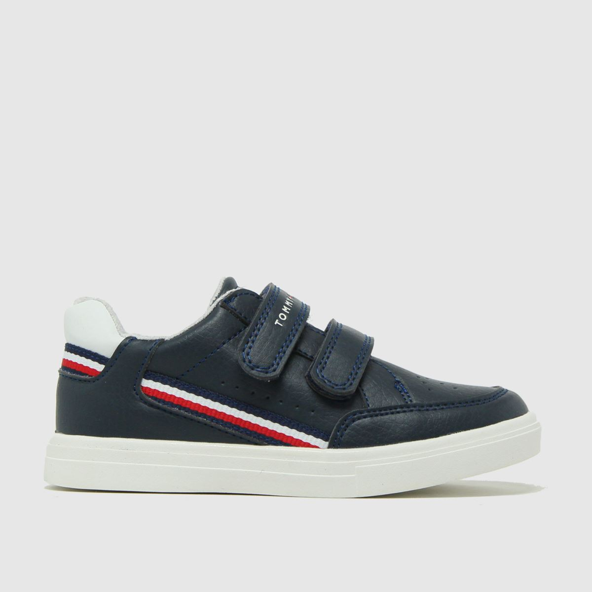 Tommy Hilfiger Navy & White Low Cut Velcro Sneaker Tdlr Trainers