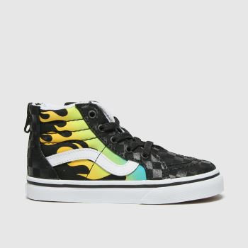 Vans Black & Grey Sk8-hi Zip Boys Toddler#