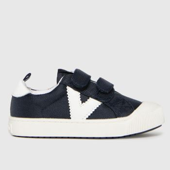 victoria Navy & White Huellas Trainer 2v Boys Toddler