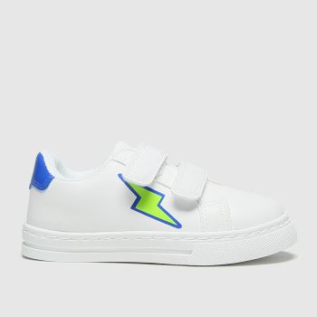 schuh White & Blue Bolt 2v Boys Toddler