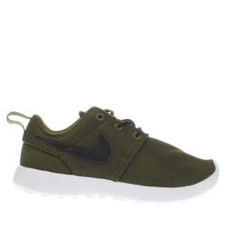 Boys Khaki Nike Roshe Run Boys Junior Schuh