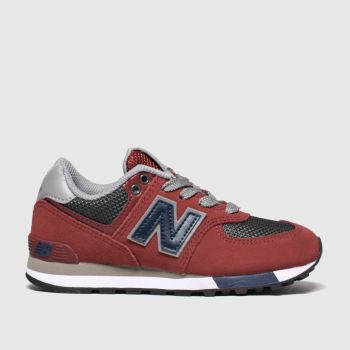 New Balance Red 574 Boys Junior