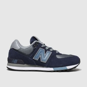 New Balance Navy & Pl Blue 574 Boys Junior