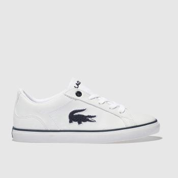 Lacoste White & Navy LEROND Boys Junior