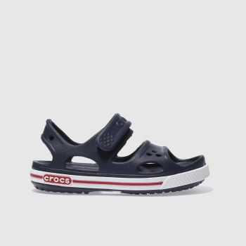 crocs Navy & White Crocband Sandal Boys Junior