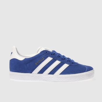ADIDAS BLUE GAZELLE TRAINERS JUNIOR