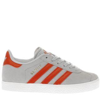 junior adidas gazelle trainers grey