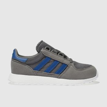 ADIDAS DARK GREY FOREST GROVE TRAINERS JUNIOR