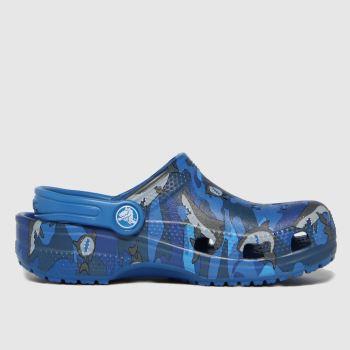 crocs Blue Classic Clog Boys Junior
