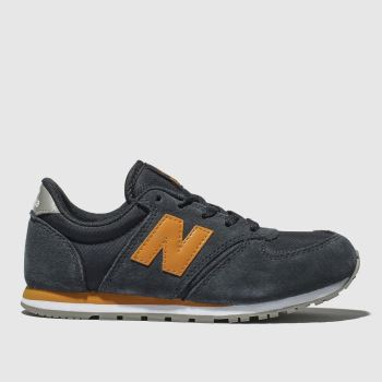 NEW BALANCE NAVY & ORANGE 420 TRAINERS JUNIOR