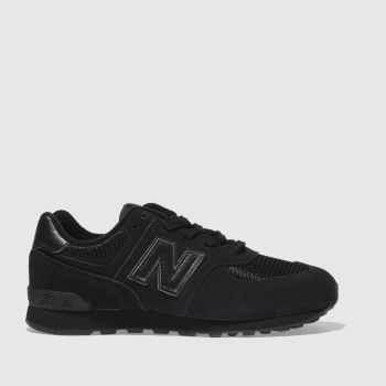 New Balance Black 574 Boys Junior