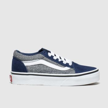 Vans Navy & Grey Old Skool Boys Junior