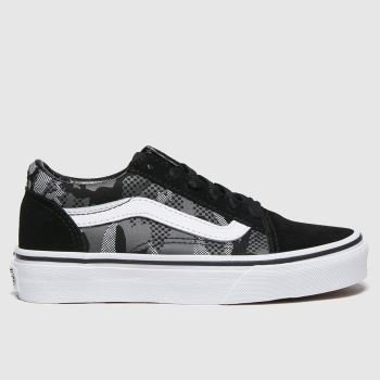 Vans Black & White Old Skool Boys Junior#