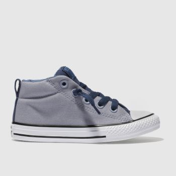 Converse Grey All Star Street Mid Boys Junior