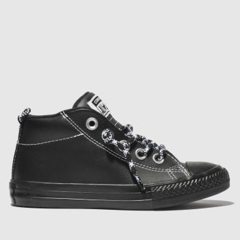 Converse Black & White All Star Street Mid Boys Junior