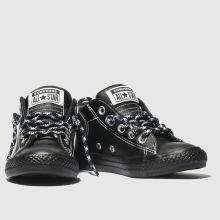 03d3f8a04a3824 Boys black   white converse all star street mid trainers