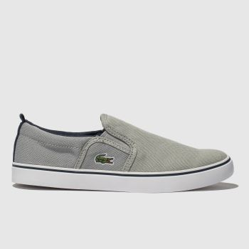 Lacoste Grey & Navy Gazon Boys Junior